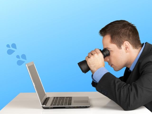 ブログを見ているクライアント
