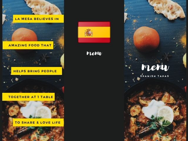 スペインバルのメニュー例
